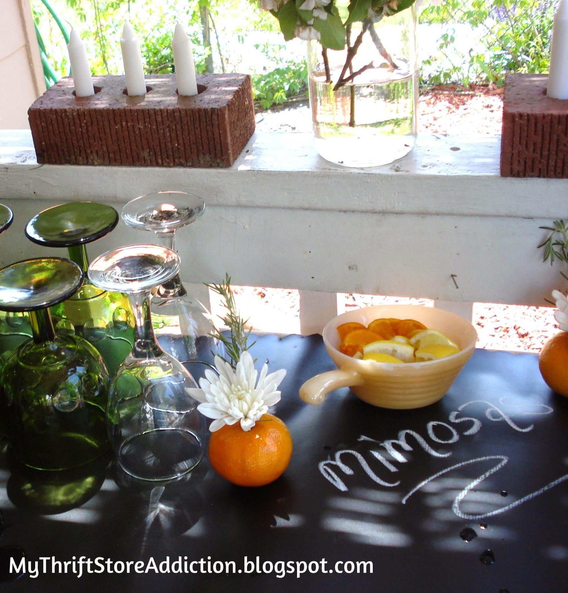 Casual Garden party Mimosa bar