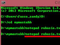 Menyisipkan Pesan Rahasia didalam File Txt Melalui CMD