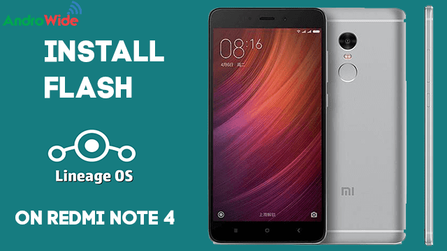 how to flash lineageos on redmi note 4