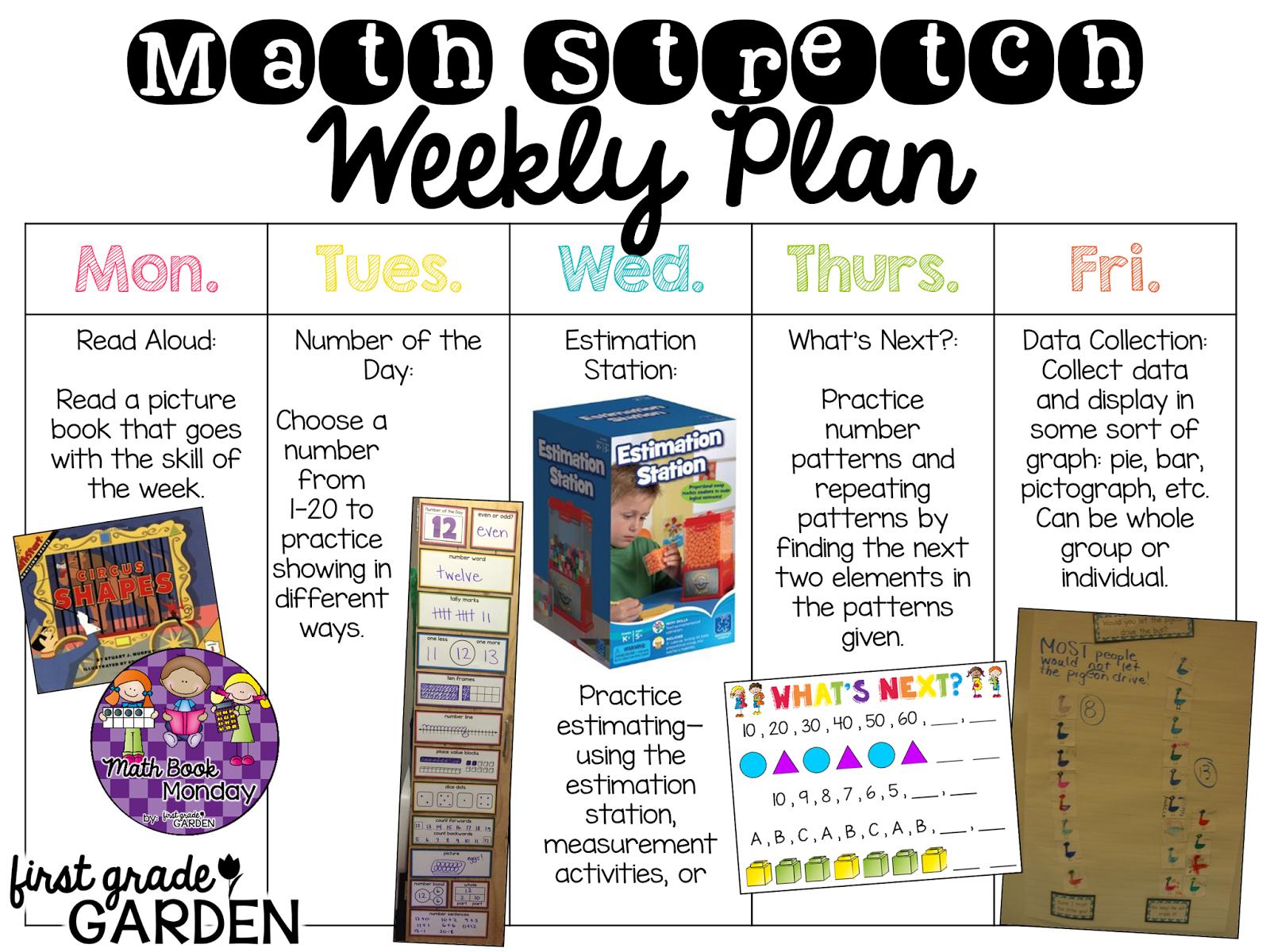 First Grade Garden Daily Schedule