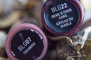 Butter Gloss de NYX: Tiramisu y Devil's Food Cake. #mcalipstickweek.