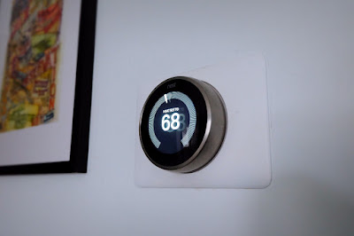 nest thermostat learning wall installed powered on