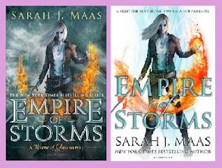 Portadas del libro Imperio de tormentas, de Sarah J. Maas