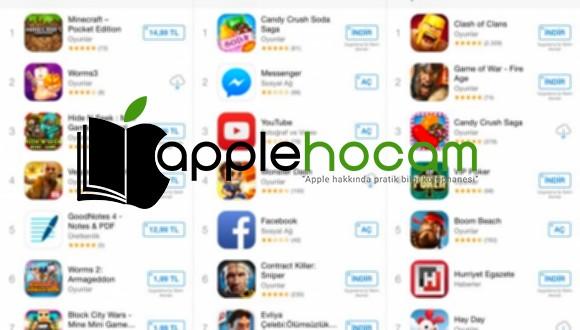 iPhone Ücretsiz Apple Store Uygulaması