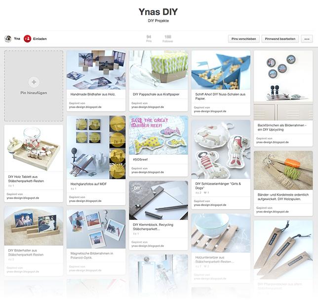 Ynas Design Blog | So sieht mein Pinterst aus | Ynas DIY Board