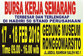 Bursa Kerja Semarang Februari 2016
