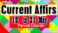 Current Affairs 19 to 21 May 2017 Video
