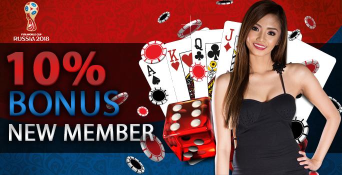Bonus New Member Poker 10%