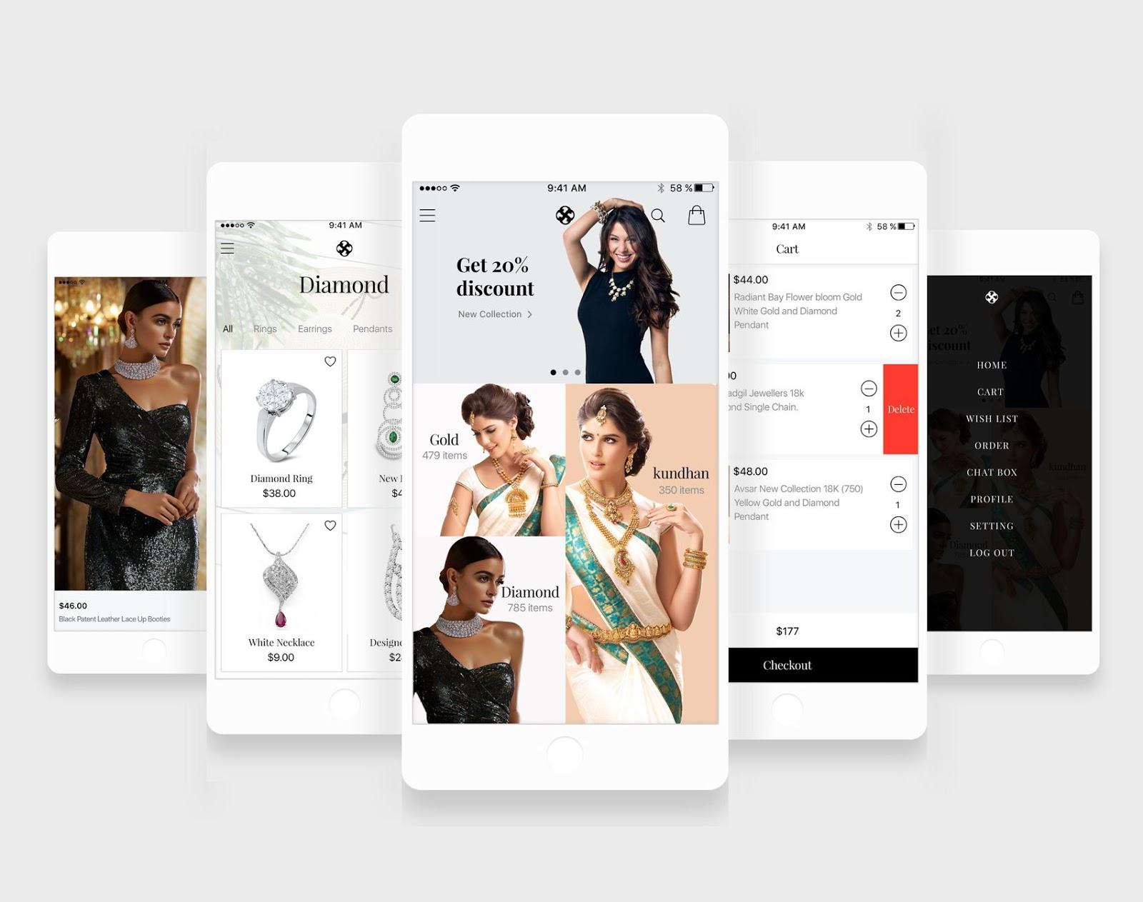 Jewellery%2BApp Jewellery App UI Designs download
