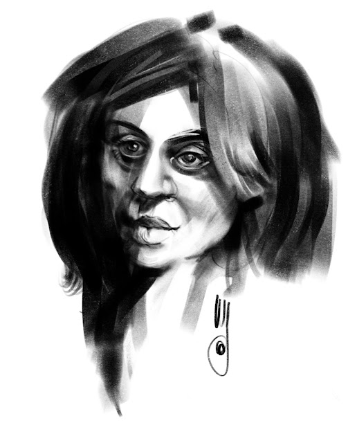 Charcoal portrait by Artmagenta