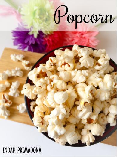 popcorn, resep popcorn, cara membuat popcorn, resep popcorn mudah
