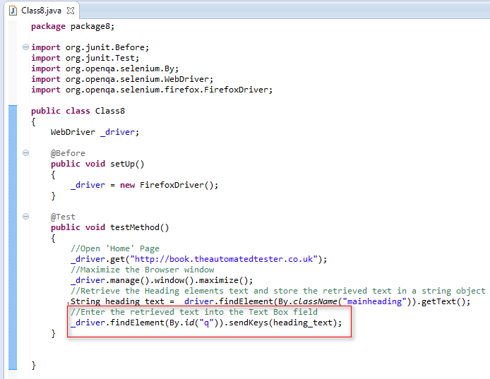 SeleniumTwo (QAFox com): 34  Using getText( ) to retrieve