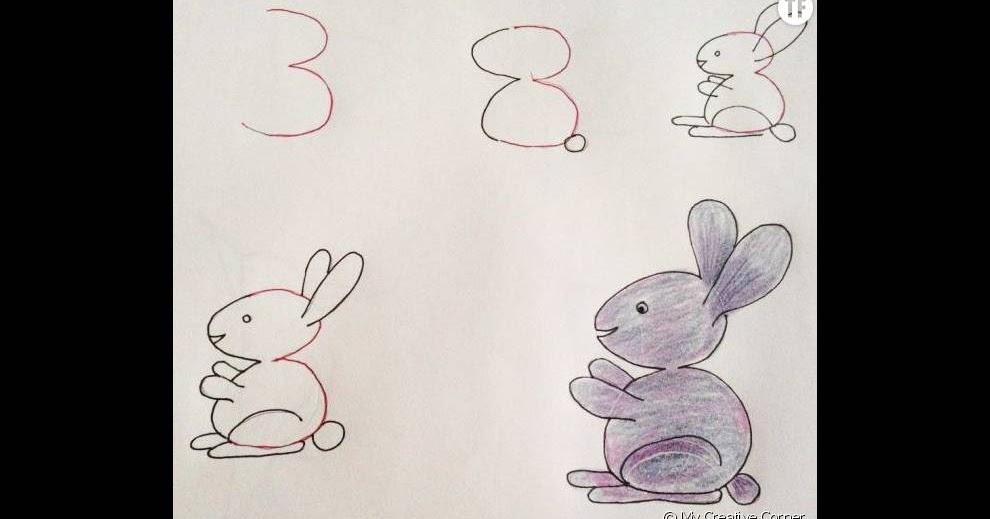 Apprendre facilement à un enfant à dessiner avec des chiffres et des ...