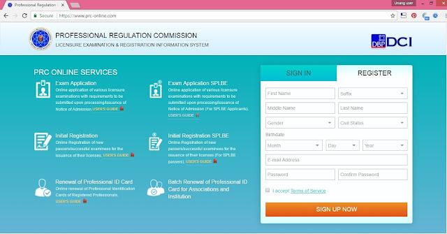 PRC License Online, PRC License ID, Filipino Professionals. LERIS V2 website