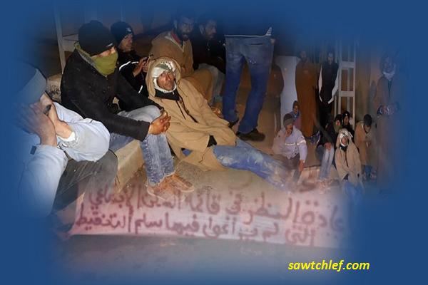 محتجون يبيتون للعراء إحتجاجا على قائمة السكن مطالبين بالتحقيق بالمرسى