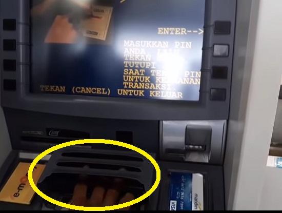 Langkah Pertama Menarik Uang Tunai di ATM Mandiri 3