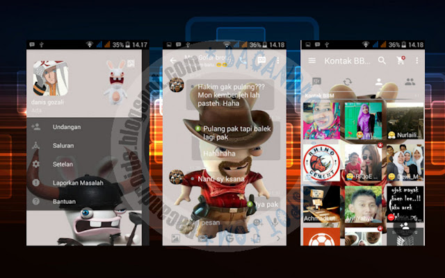 download BBM Mod 2.13.0.26 Thema Rabbit Invansion New Apk