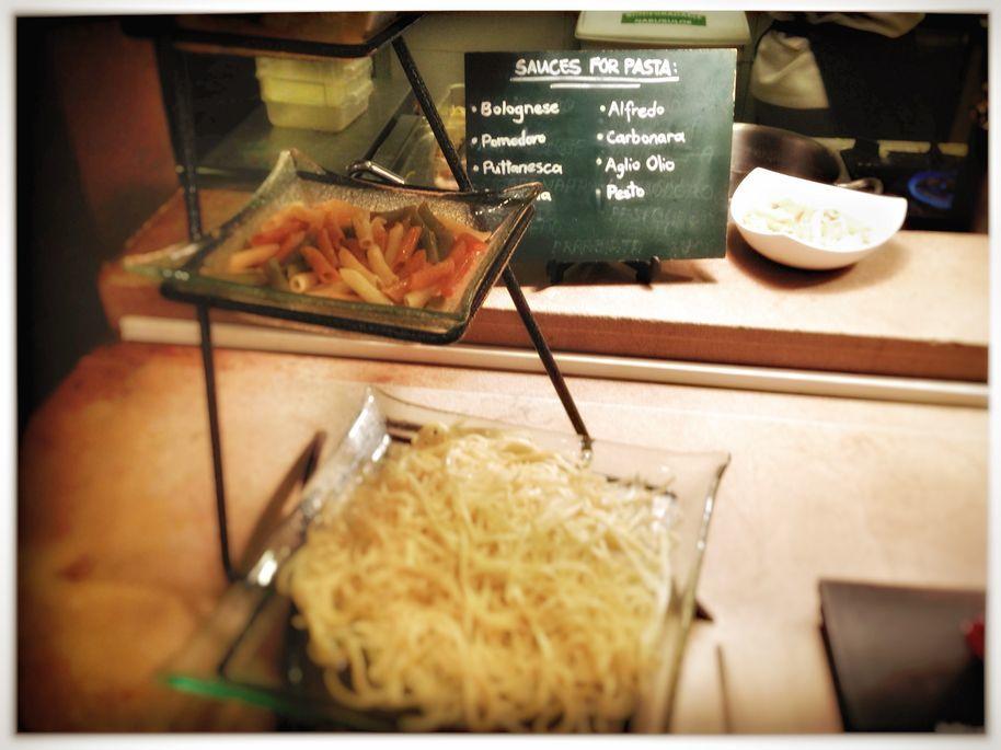 Pasta station at Flavors Restaurant in Holiday Inn Makati