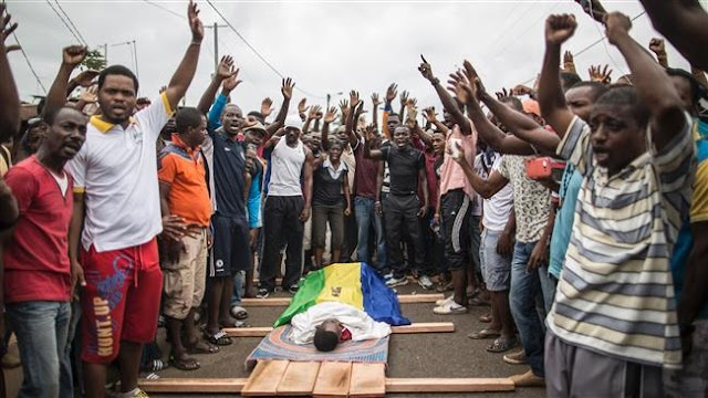 Post-election unrest persists in Gabon as police forces face riots