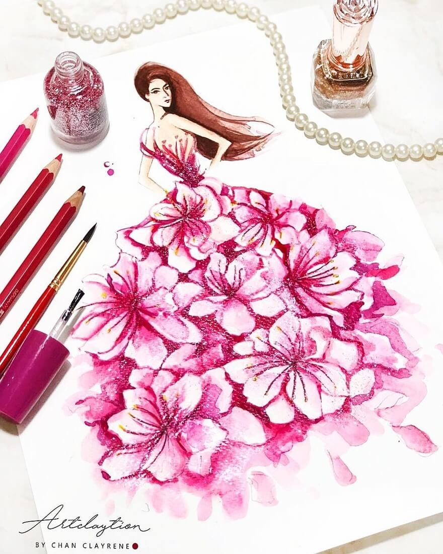 09-Sakura-inspired-Haute-Couture-Clayrene-Chan-Drawings-of-Lavish-Flowing-Dress-Designs-www-designstack-co