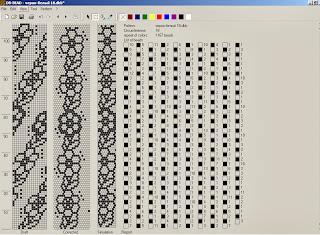 Схема жгута из бисера черно-белого