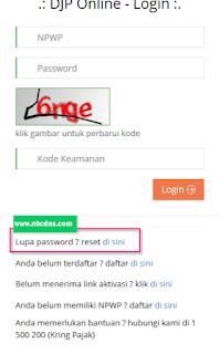 Cara Mengatasi Lupa Password DJP Online Untuk Lapor Pajak Tahunan