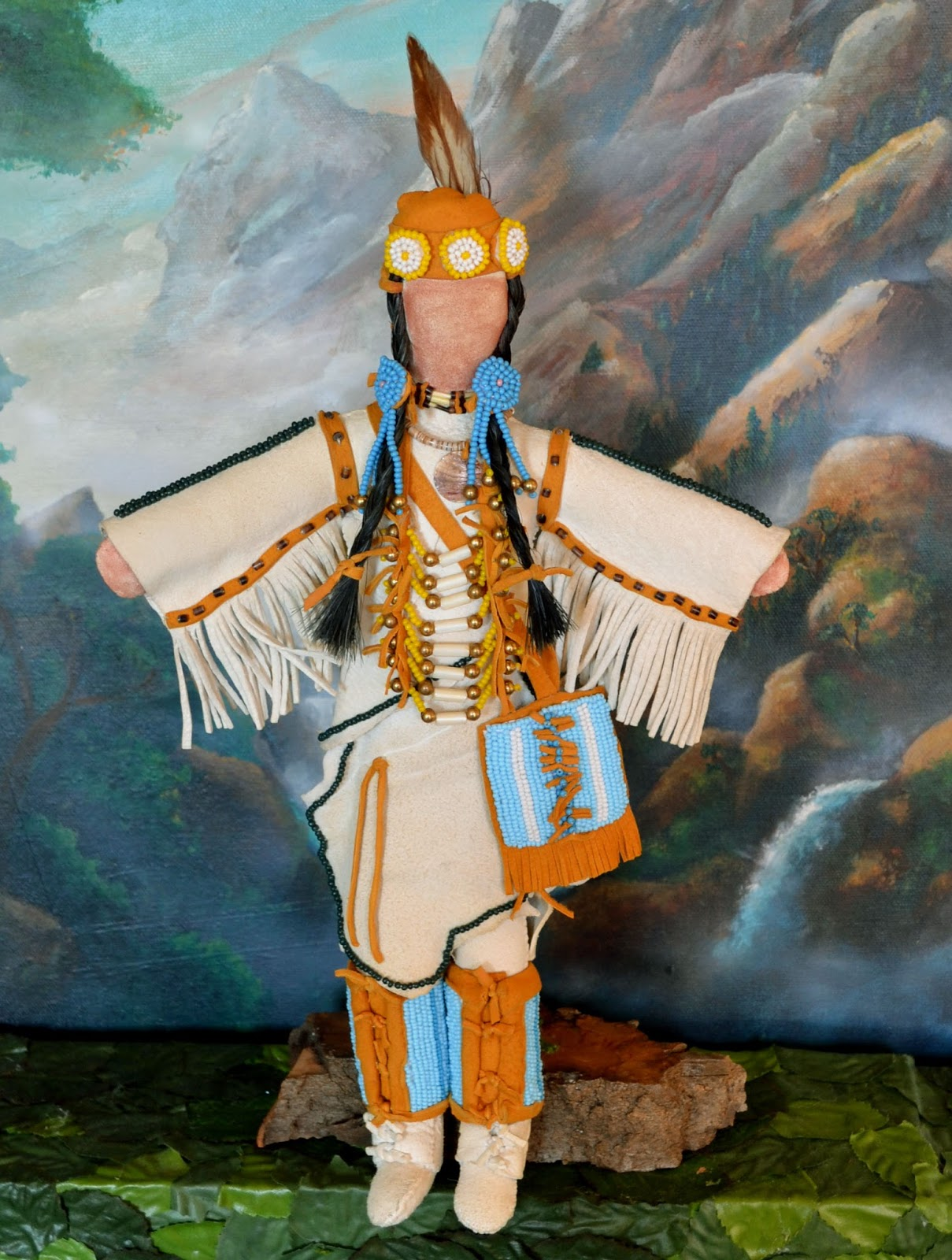Native American Plains Indian Doll Handmade Ooak Hand