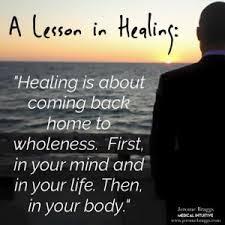 Steps in proper healing