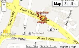 Burger Bakar Abang Burn Jajahan Johor Bahru - Peta Lokasi
