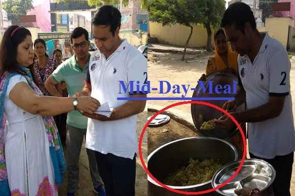 parshad-deepak-chaudhary-check-mid-day-meal-girls-school-ballabhgarh