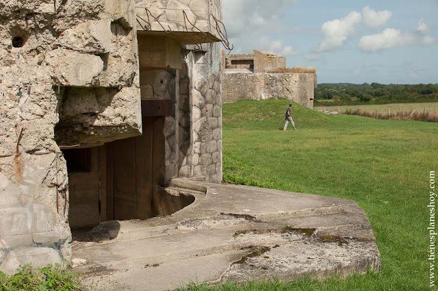 Batería de Azeville viaje a Normandía turismo visita lugares bélicos II Guerra Mundial