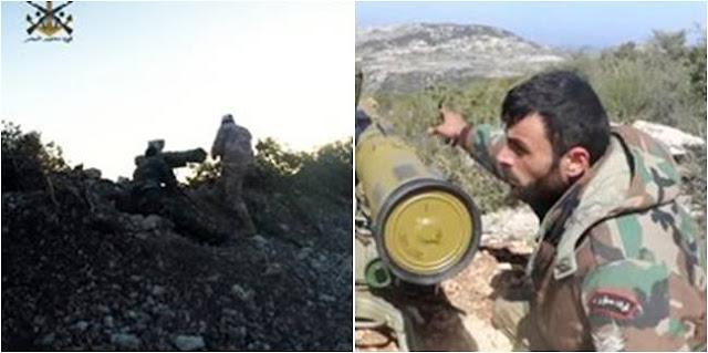 Μέλη της οργάνωσης Fawj Maghawir al-Bahr με Α-Τ πύραυλους Fagot/Konkurs