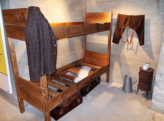 Miejsce dla więźniów w Exploseum DAG Fabrik Bromberg