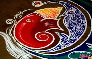 Latest and Easy Rangoli art For Diwali
