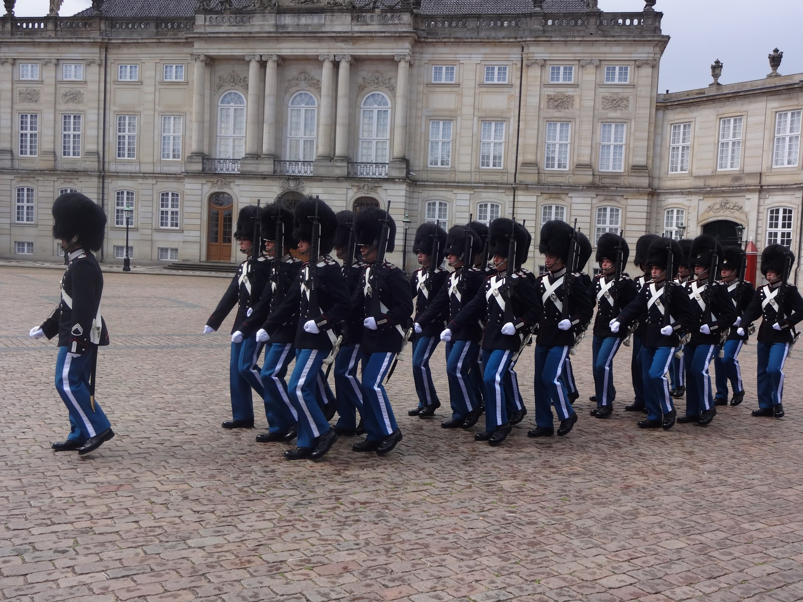 Guards at Amalienborg Palace