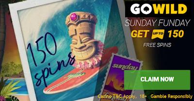 Sunday Free Spins from Go Wild Casino