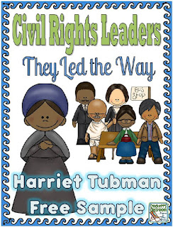Civil Rights Leaders- Harriet Tubman free sample from Crockett's Classroom