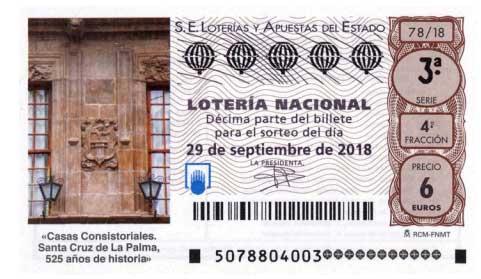 Loteria Nacional hoy sabado 29 de septiembre de 2018