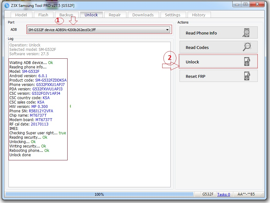 SAMSUNG G532F ROOT+UNLOCK 1000% TESTED Z3X+OCTOPUS BOX FREE