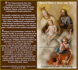 Resultado de imagen para San José, patrón del Purgatorio
