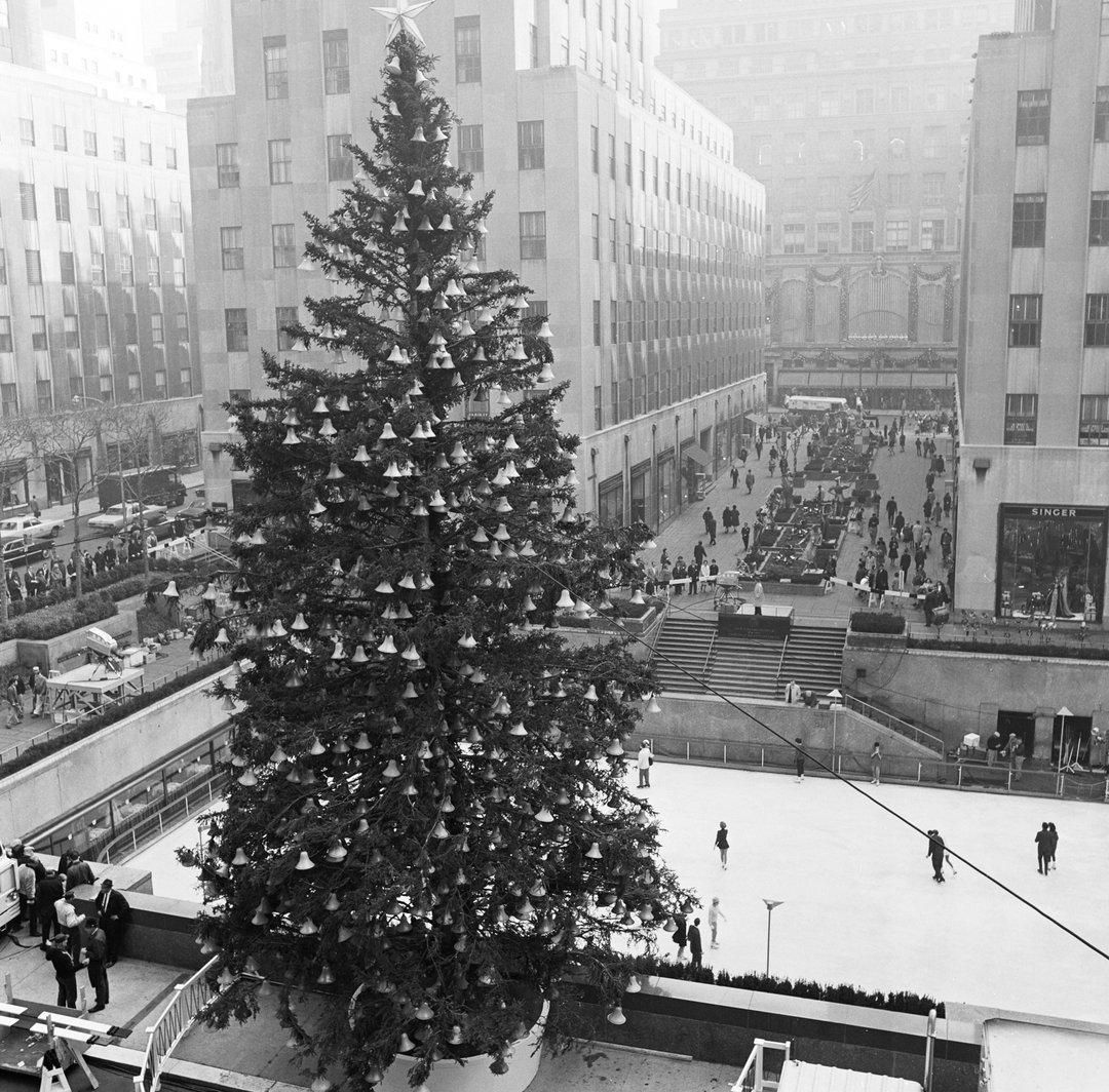"""Throwback Thursday """"Rockefeller Center Christmas Tree 1966"""
