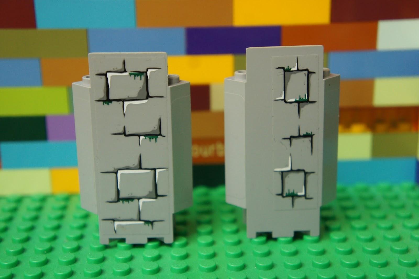 Lego 4 Black 1x2x3 wall panel NEW