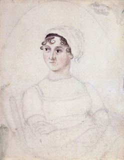 Picture of Author Jane Austen, drawn by her sister Cassandra