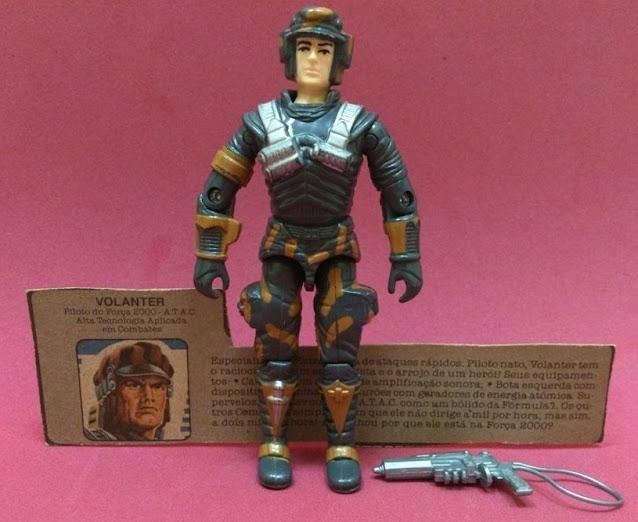 Volanter, Brazilian Blocker, 1987, Weapon Variant, Iron Grenadier Uzi, 1988, Silver