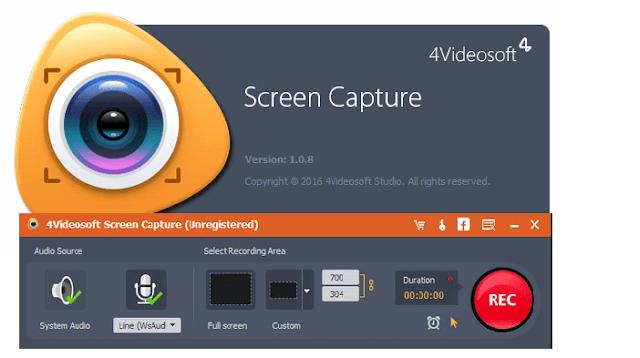 تحميل برنامج 4Videosoft Screen Capture لتصوير سطح المكتب وعمل الشروحات مع التفعيل