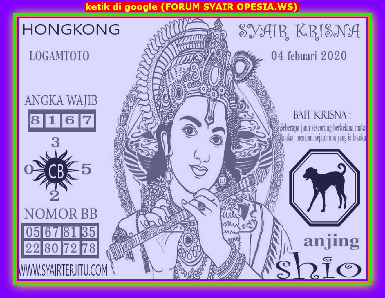 Kode syair Hongkong Selasa 4 Februari 2020 181