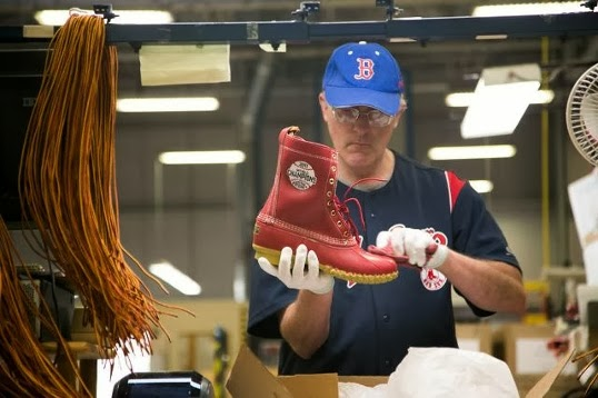15cab7db12 L.L. Bean Makes Custom Boots for the World Series Champion Boston Red Sox