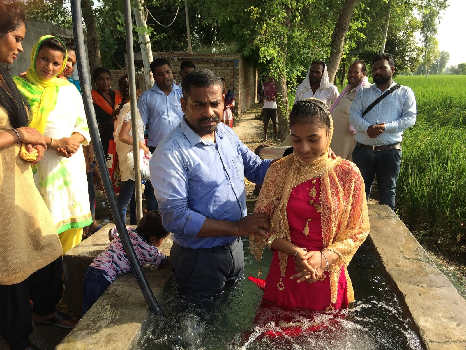Image result for baptism in punjab