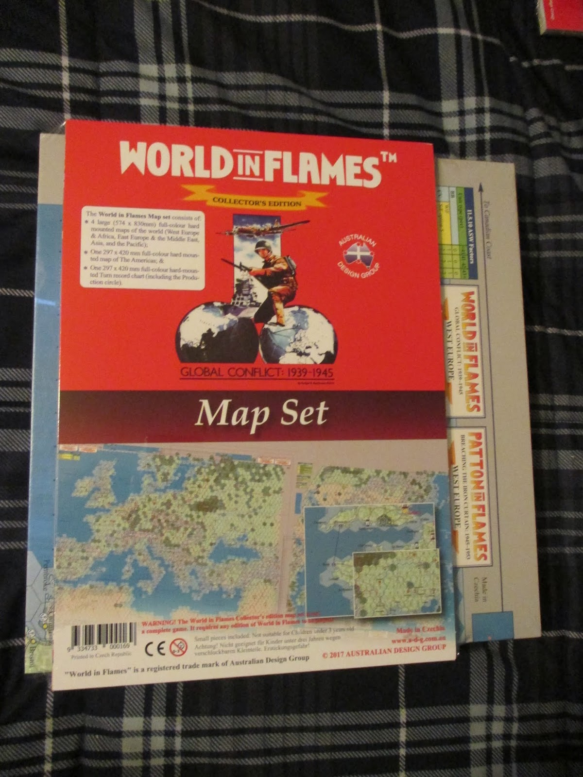 World in flames deluxe collectors edition by australian design group the map package gumiabroncs Images
