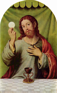 """Christ With the Eucharist""  -- by Vicente Juan Masip, 16th century"